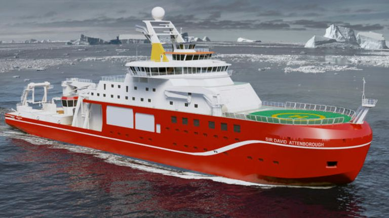 An artist's impression of the RRS Sir David Attenborough