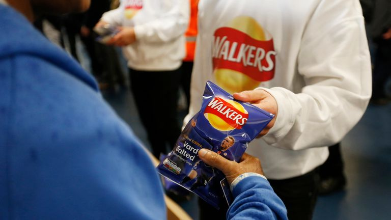 Walkers Crisps at Leicester v Chelsea game 14 Dec 2015