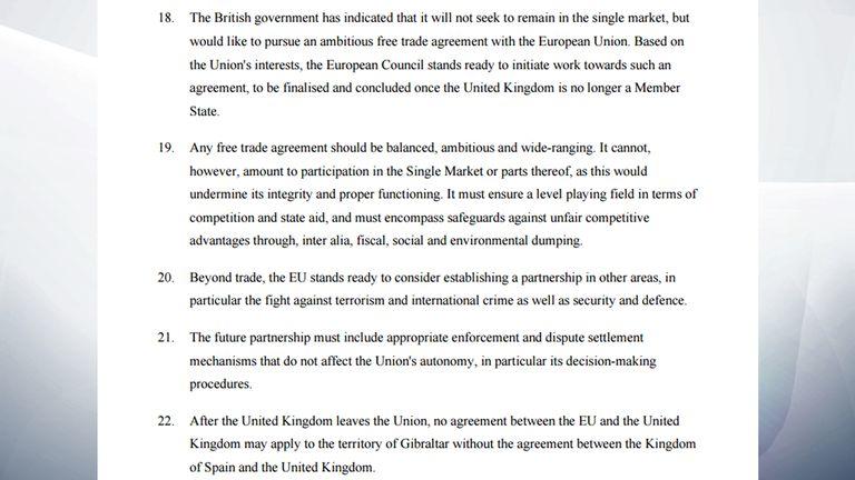 EU Council letter