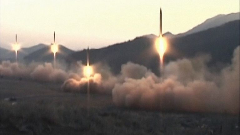 North Korea launches four missiles at once