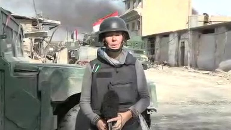 Alex Crawford live from Mosul