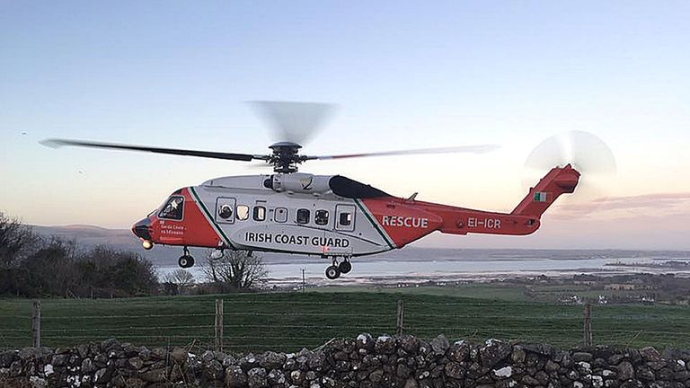 File picture of a Irish Coast Guard helicopter