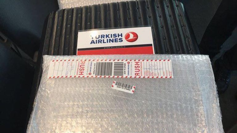 Turkish Airlines has released new photos of their set up for stowing electronic devices