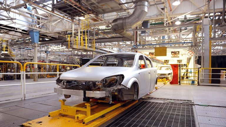 Astra cars are assembled at the General Motors' owned Vauxhall plant in Ellesmere Port, Cheshire