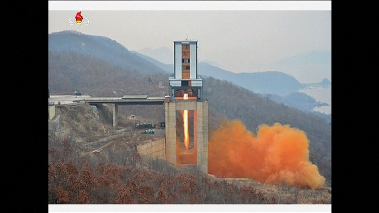 North Korea tested a new high-thrust rocket engine