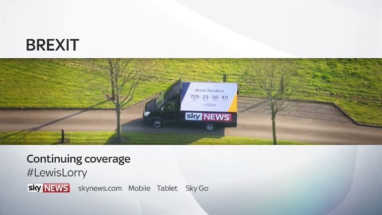 Brexit Countdown with the Lewis Lorry