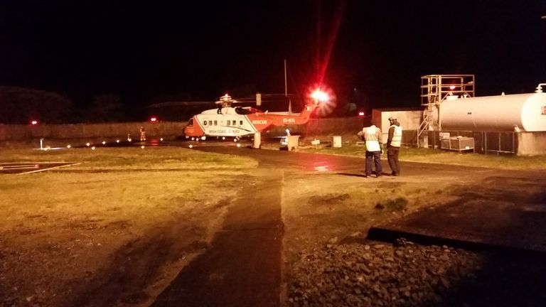 Contact was lost with the helicopter at 1am