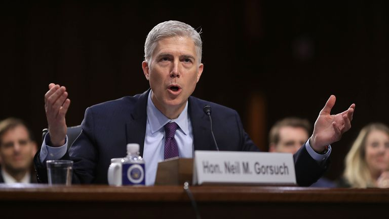 Donald Trump's nominee for the role of Supreme Court judge Neil Gorsuch