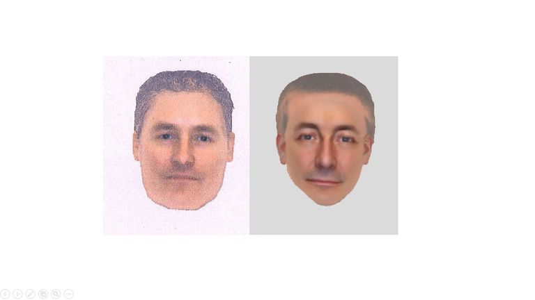 The Met's e-fit of a man believed to be in Praia da Luz when Madeleine disappeared