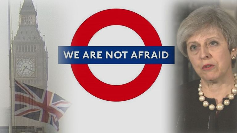 Messages of support flood in as Londoners return to work after a terror attack in Westminster