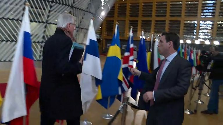 Michel Barnier struggles to escape Mark Stone