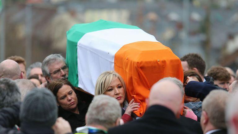 Martin McGuinness' coffin