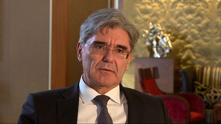 Joe Kaeser, the chief executive of Siemens