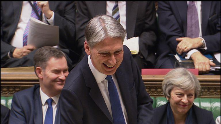 Philip Hammond lightened his Budget speech with humour