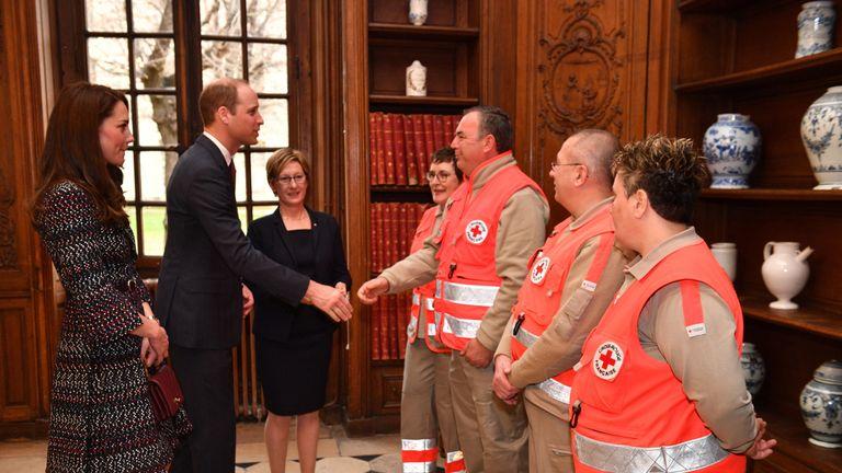 The Duke and Duchess met paramedics