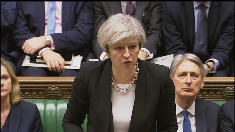 The PM addresses the commons following the Westminster terror attack