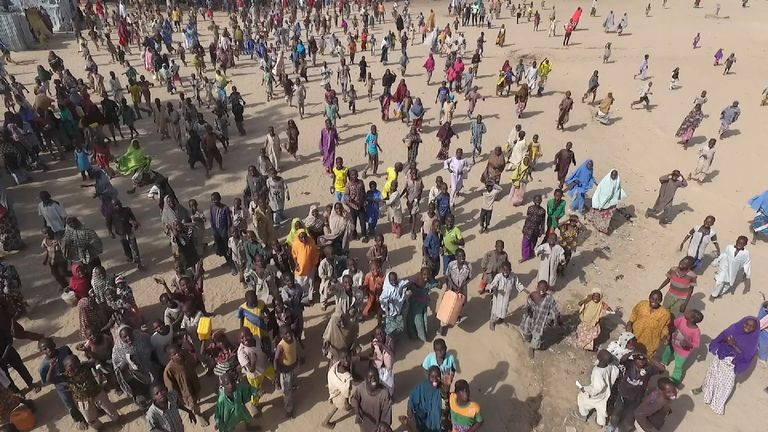 Some 50,000 have fled from Boko Haram to a refugee camp in Maiduguri