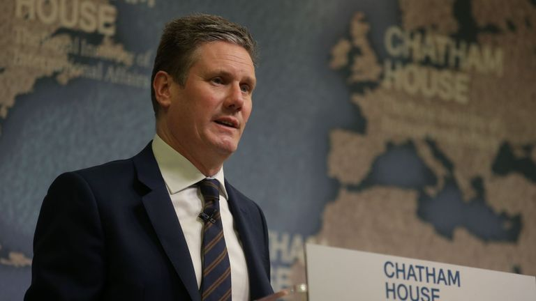 Shadow Brexit secretary, Keir Starmer