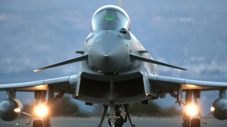 Defence Secretary Michael Fallon says the aircraft are 'ready to secure NATO airspace'
