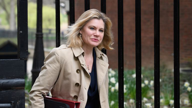 Education Secretary Justine Greening arrives at number 10, Downing Street