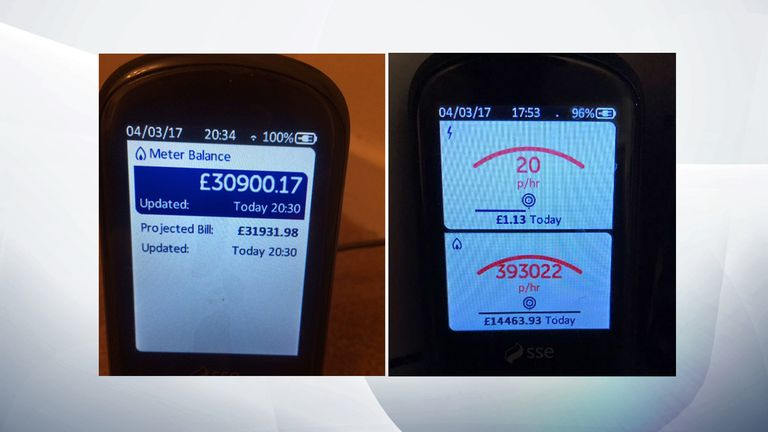 Some users were given bills running in to tens of thousands of pounds