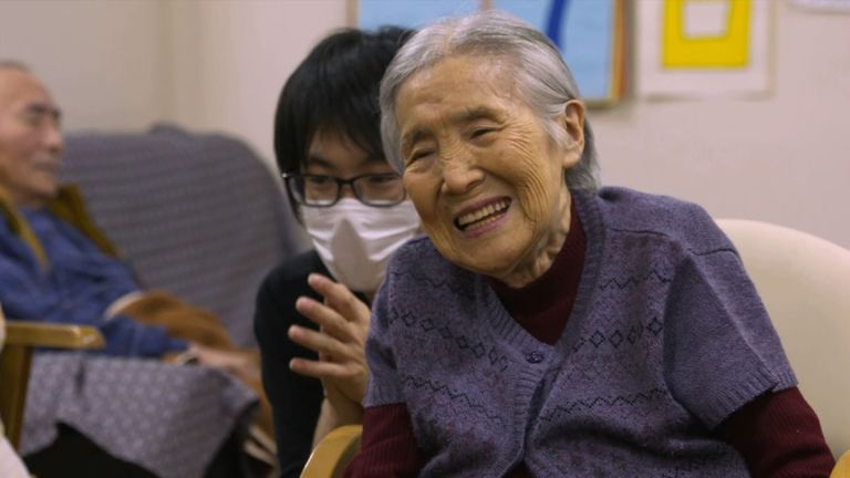 At the Komu Day Service Centre in a suburb of Tokyo, is 90-year-old Tamako Nakamura