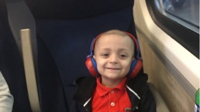 Bradley's family have been fundraising for his treatment