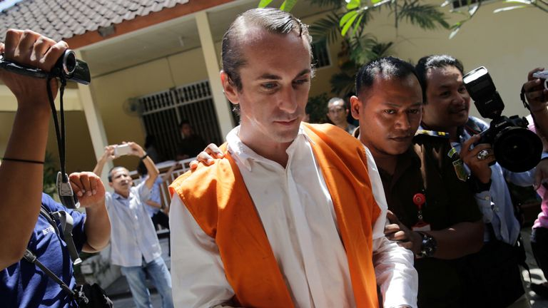 British man leaves Bali prison after serving sentence over death of policeman