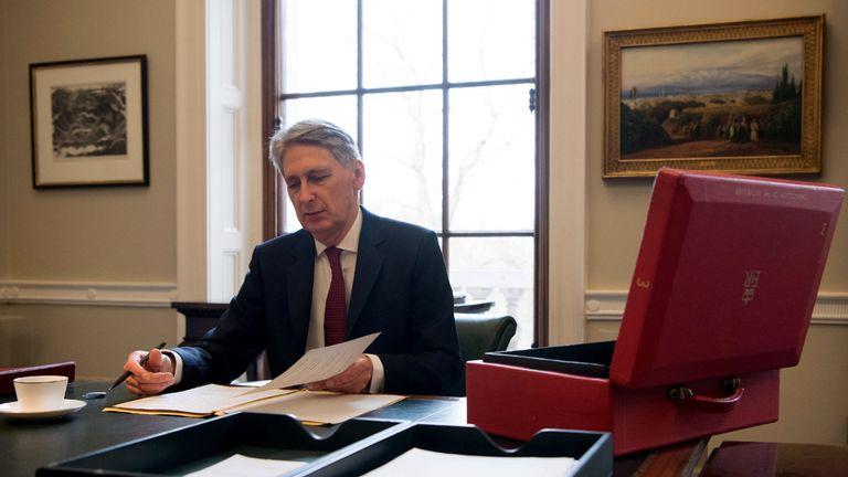 Chancellor Philip Hammond prepares for the Budget