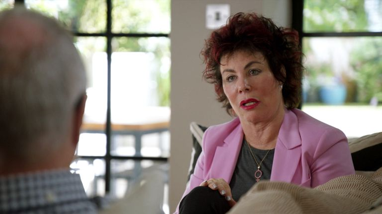 Ruby Wax told her husband she was 'mentally ill' while walking down the aisle