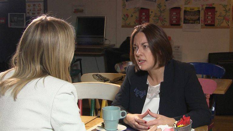 Kezia Dugdale speaks to Sky's Sophy Ridge