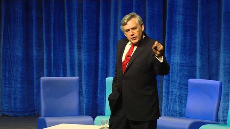 Former Labour prime minister Gordon Brown
