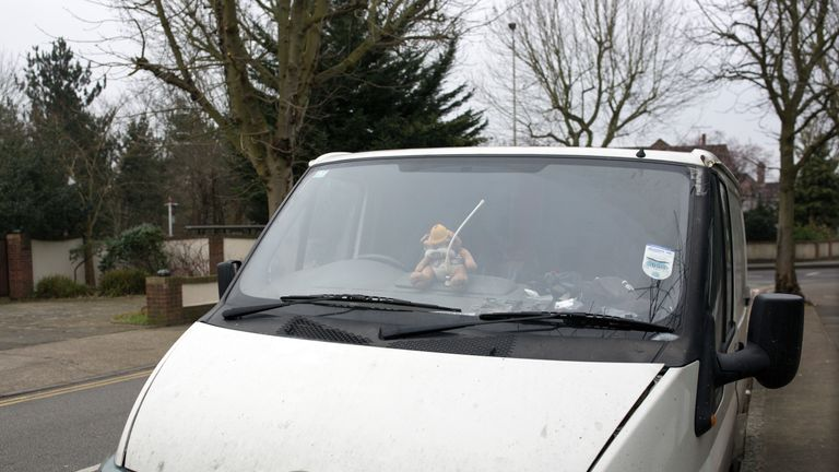 ROMFORD, ENGLAND - MARCH 15: A toy bulldog sits on the dashboard of a white van on March 15, 2016 in Romford, England. In a recent YouGov survey, the London borough of Havering was named as the most Eurosceptic place in the country. (Photo by Dan Kitwood/Getty Images)