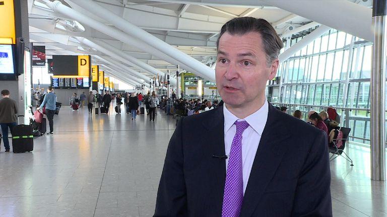 Chief executive of Heathrow, John Holland-Kaye