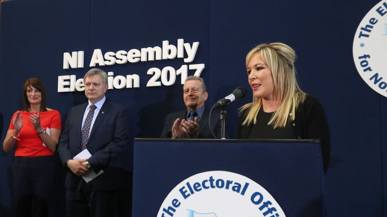 Sinn Fein Leader in the North Michelle O'Neill said it was a brilliant day for equality