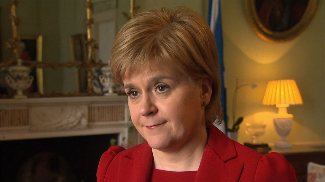 Nicola Sturgeon reacts to news of Theresa May's intention to call a snap General Election