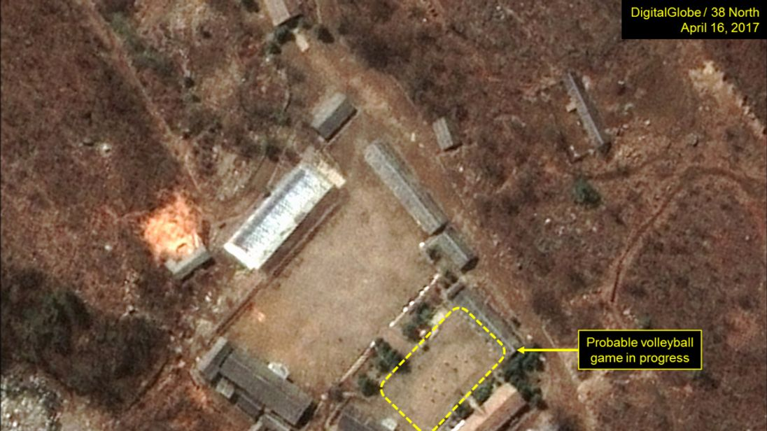 A probable volleyball game seen at the Main Administrative Area.Pic: Digital Globe Inc / 38 North