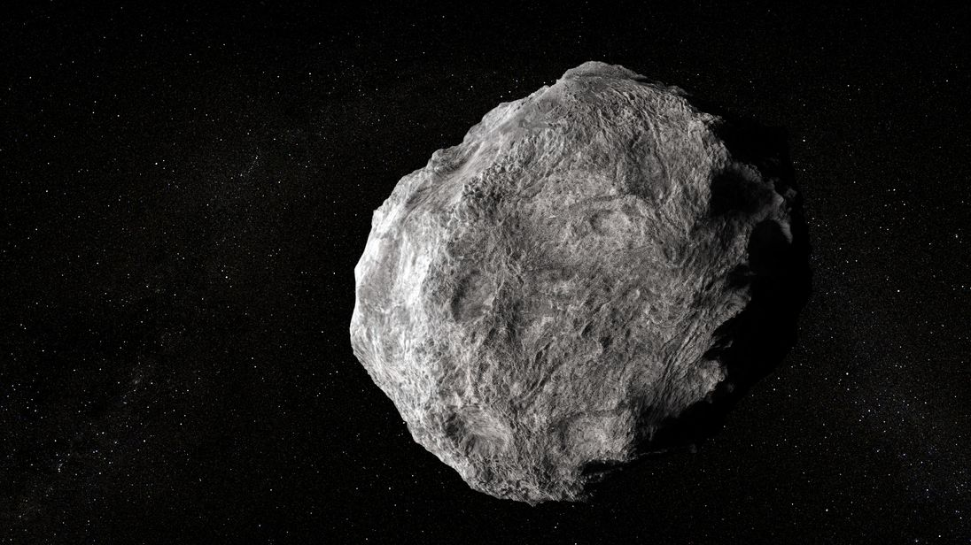 Artist's impression of asteroid