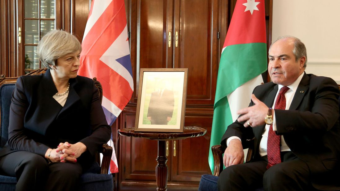 The PM has described the UK's relationship with Jordan and Saudi Arabia as important for security