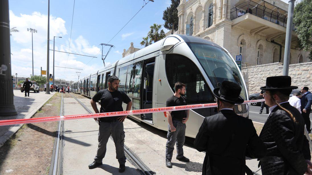 Police cordon off the scene of the attack