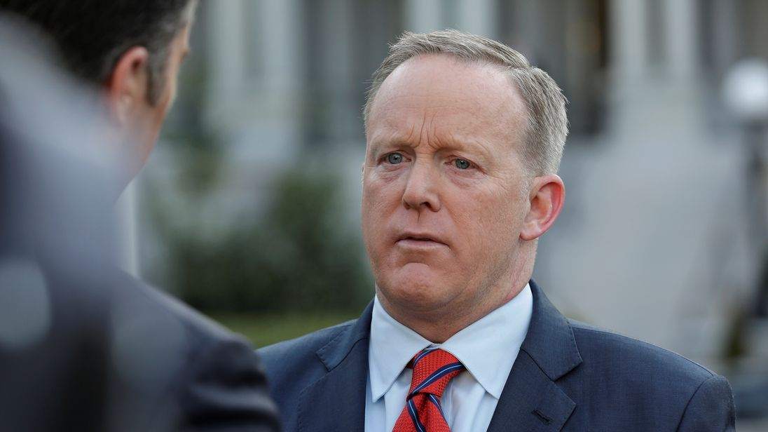 Mr Spicer told reporters that Hitler 'didn't even sink to using chemical weapons'