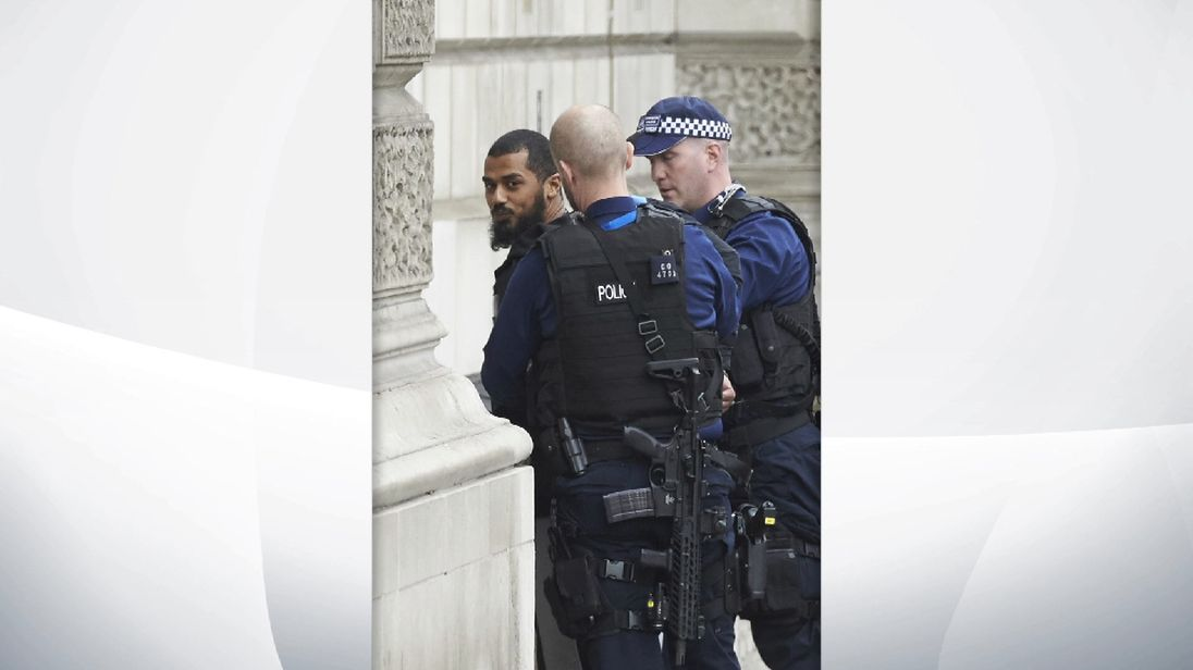 Police arrested Khalid Mohammed Omar Ali close to Downing Street