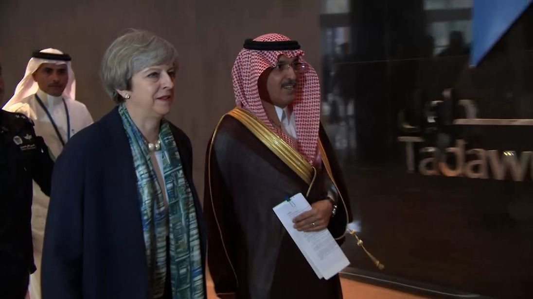 Theresa May seeks to strengthen ties and increase trade with Saudi Arabia, as its spends heavily on an ongoing war in Yemen