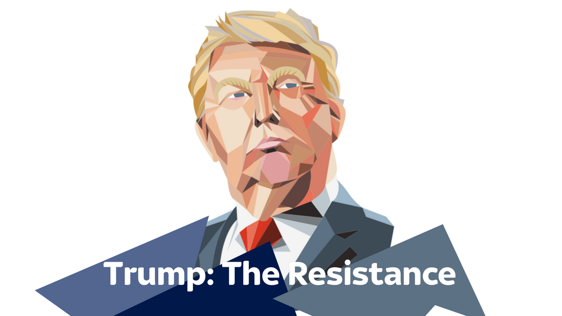 How have Trump's opponents mobilised in the battle against his policies?