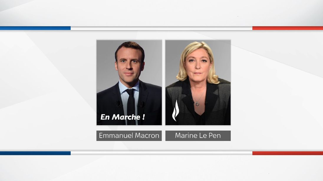 Emmanuel Macron and Marine Le Pen to face off in the French election to become President.