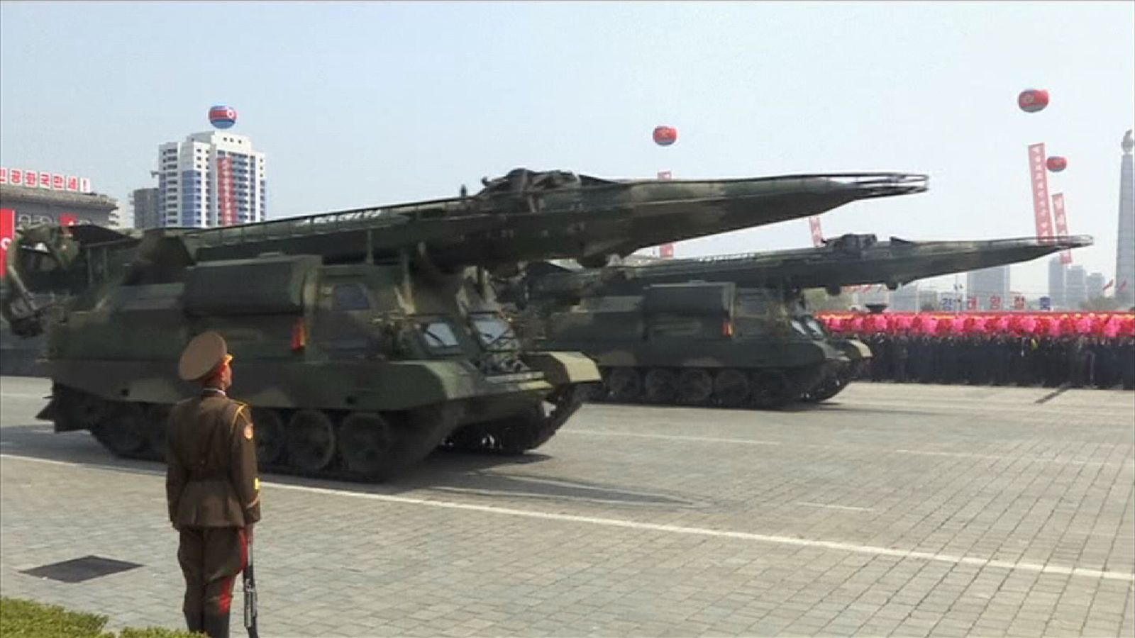 Possible KN-17 ballistic missiles during military parade in North Korea
