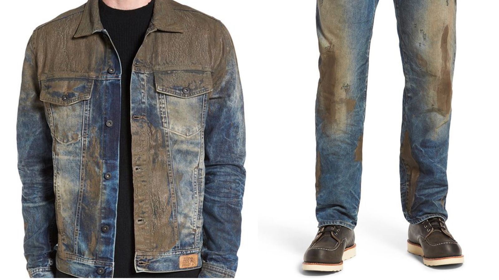 'Muddy' men's jeans on sale for £330 at Nordstrom in US