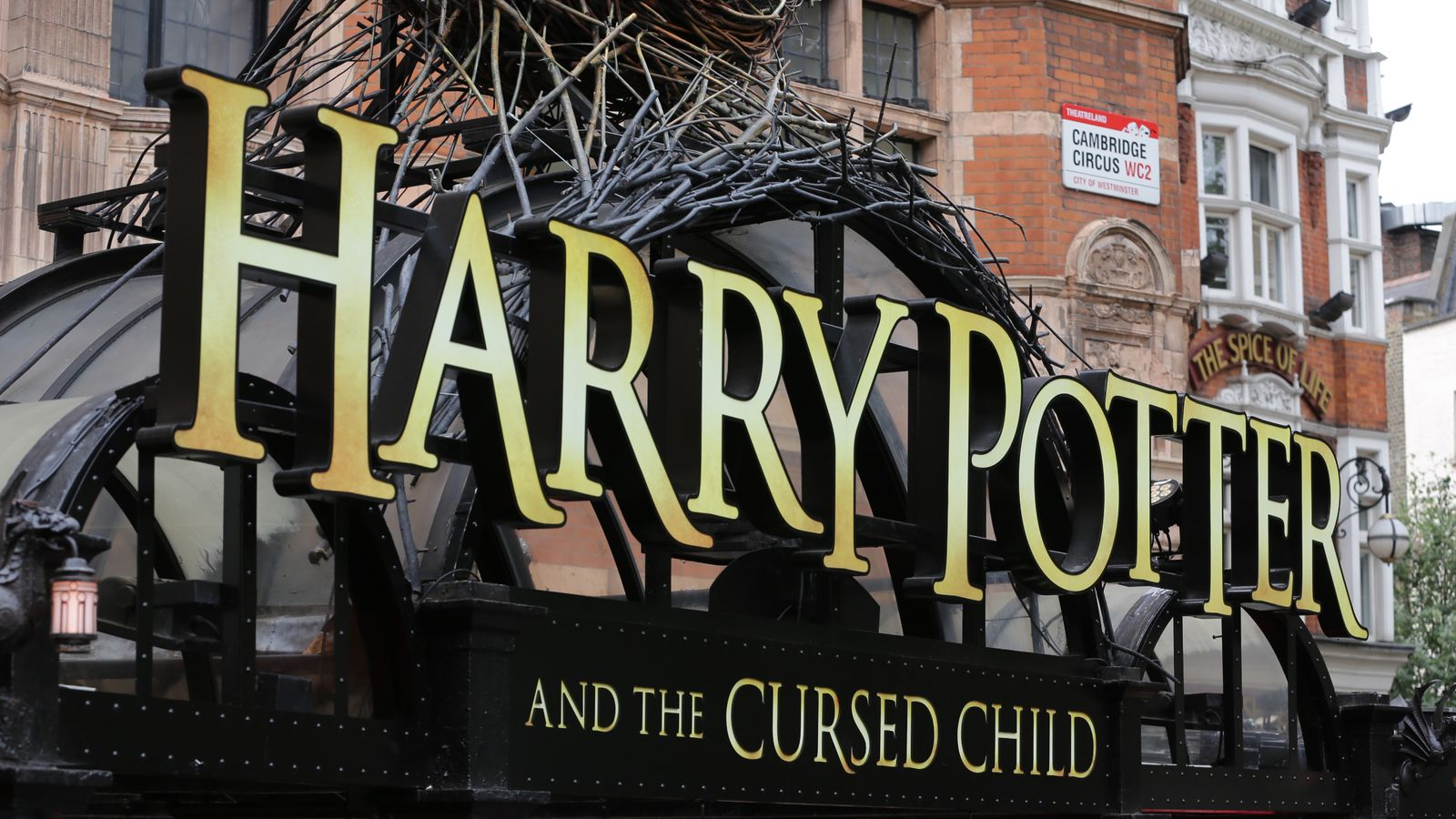 Harry Potter and the Cursed Child was premiered at the Palace Theatre, in London's West End