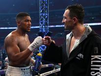 Anthony Joshua post fight with Wladimir Klitschko