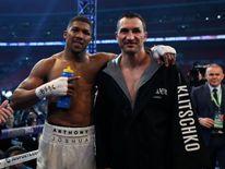 Anthony Joshua post fight with Wladimir Klitschko